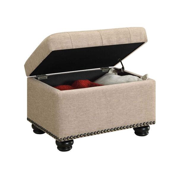 Designs4Comfort Tan Storage Ottoman, image 3