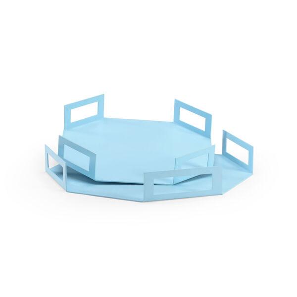 Blue Octagon Trays, image 1