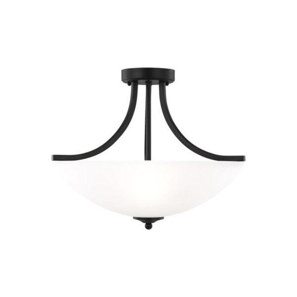 Geary Midnight Black Three-Light Semi-Flush Convertible Pendant, image 2