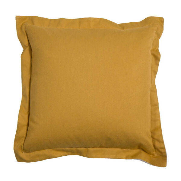 Premier Mustard 20 x 20 Inch Pillow with Linen Double Flange, image 1