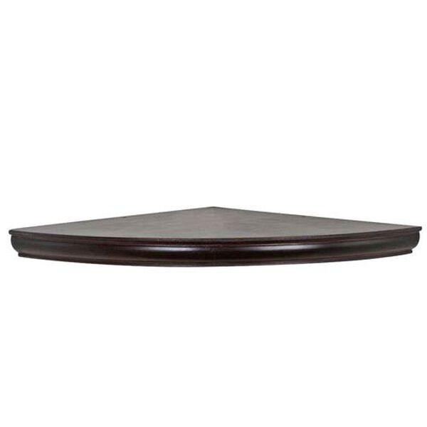 Espresso Floating Corner Shelf, 18-Inch Radius, image 1