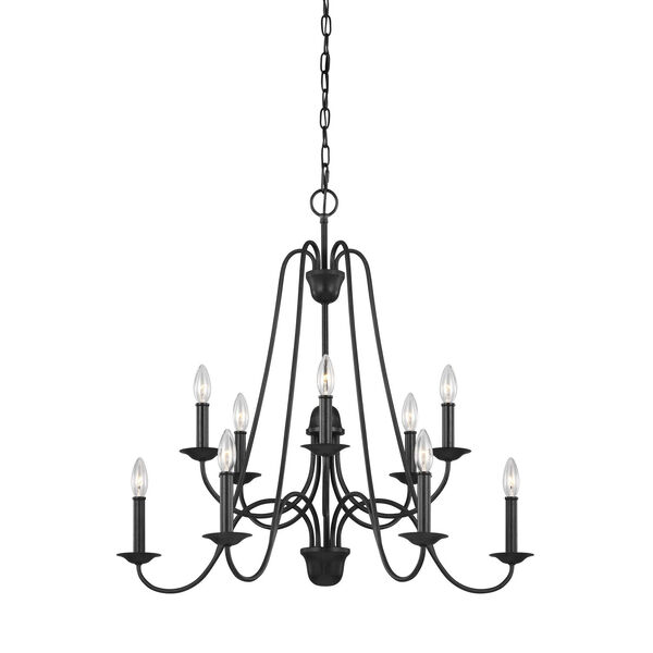 Boughton Antique Forged Iron 10-Light Chandelier, image 2