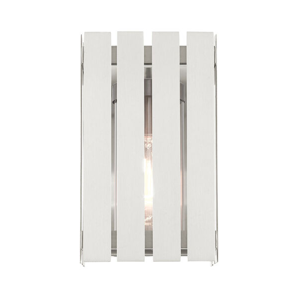 Greenwich Brushed Nickel 10-Inch One-Light Outdoor Wall Lantern, image 3