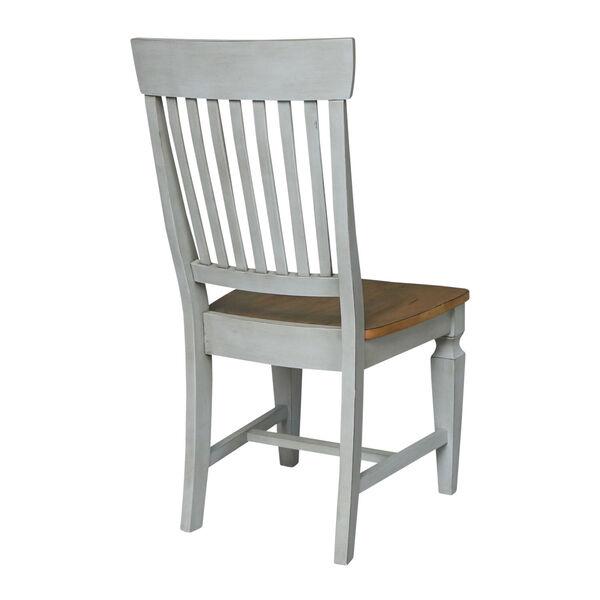 Vista Hickory Stone Slat Back Chair, Set of Two, image 6