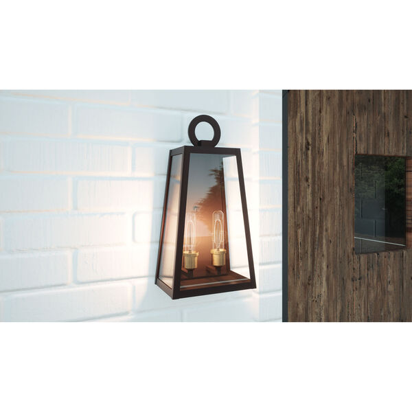 Poplar Point Old Bronze Two-Light Outdoor Wall Mount, image 2