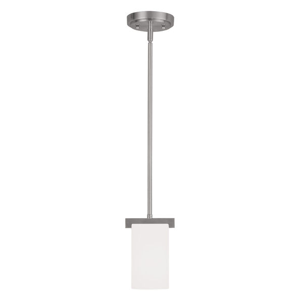 Astoria Brushed Nickel 5-Inch One-Light Mini Pendant, image 1