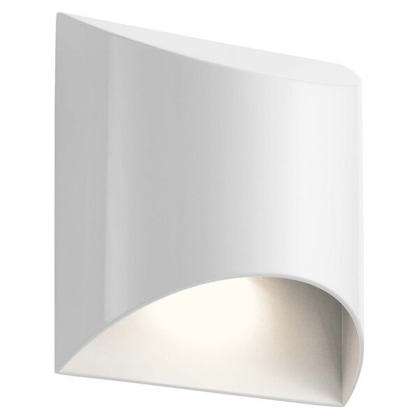 Wesley White LED Outdoor Wall Sconce, image 1