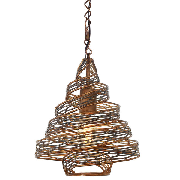 Flow Hammered Ore 12-Inch One Light Mini Pendant, image 3
