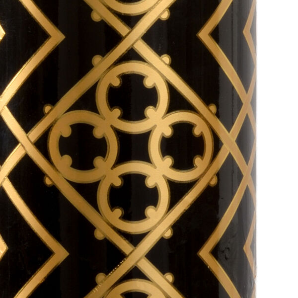King Black and Metallic Gold One-Light Table Lamp, image 4