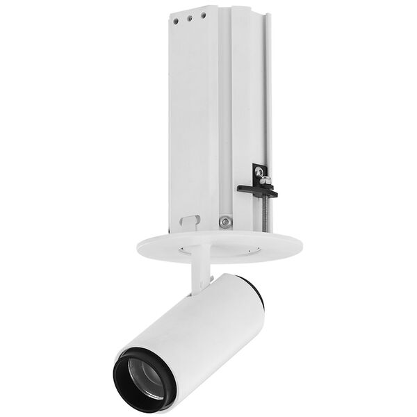 Telescopica White Six-Inch Adjustable LED Recessed Spotlight, image 1