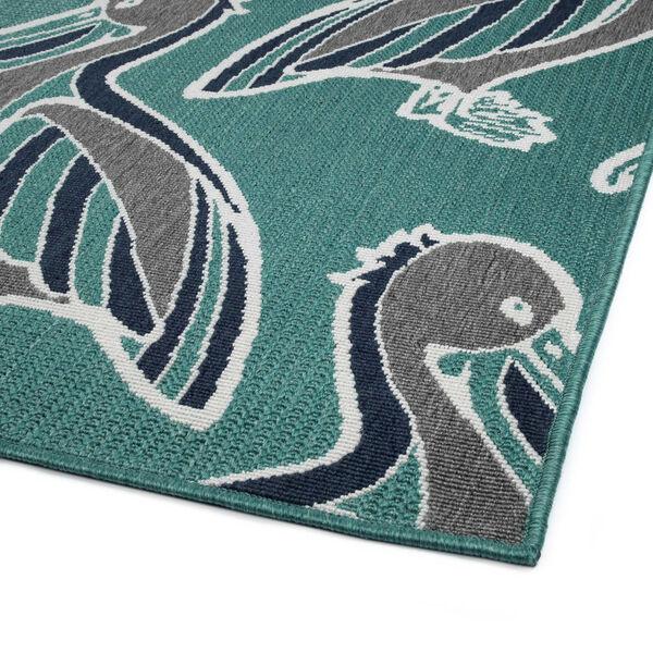 Light Blue Pelican Indoor/Outdoor Rug, image 5
