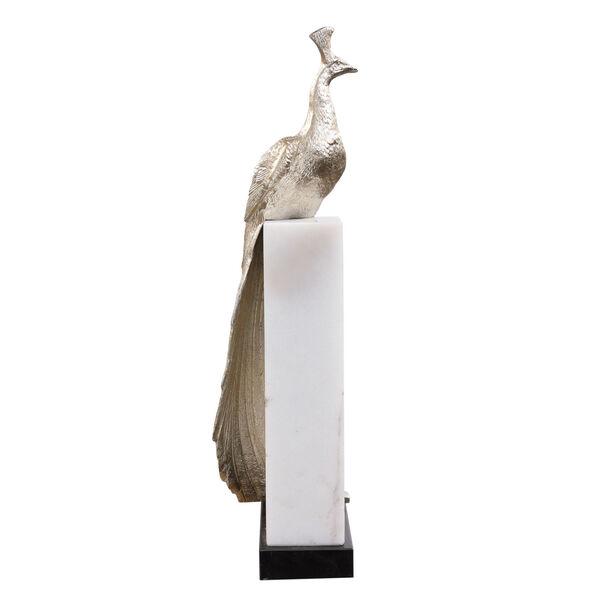 Overseer Silver and Black Overseer Peacock Sculpture, image 5