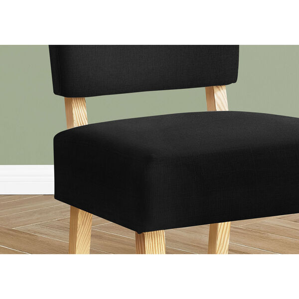 Black and Natural Armless Chair, image 3