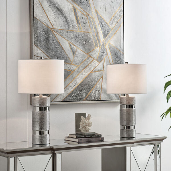 Lucano Silver Two-Light Table Lamp, Set of Two, image 3