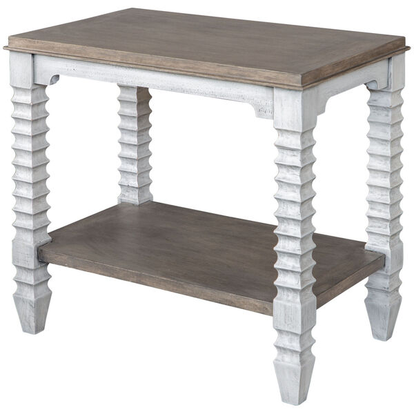 Calypso Gray and White Side Table, image 2