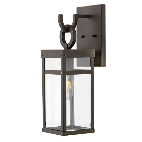 Porter Oil Rubbed Bronze 19-Inch One-Light Outdoor Wall Sconce, image 1