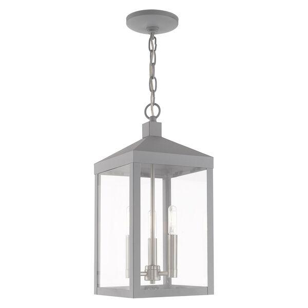 Nyack Nordic Gray Eight-Inch Three-Light Pendant Lantern, image 1