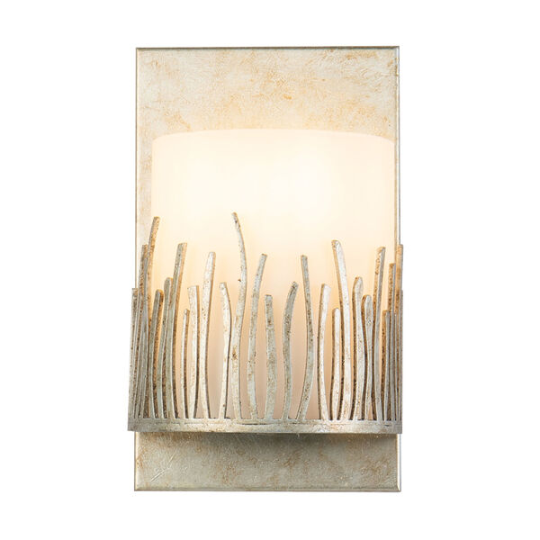 Sawgrass Silver Leaf with Antique One-Light Wall Sconce, image 1