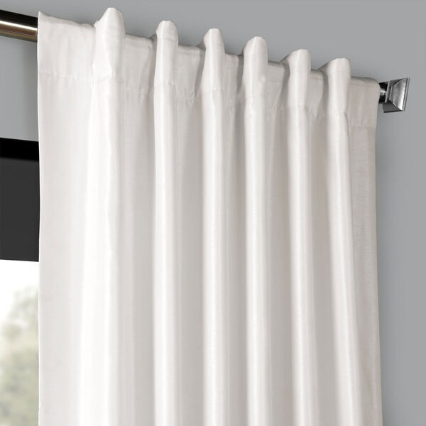 Ice 120 x 50 In. Blackout Vintage Textured Faux Dupioni Silk Curtain Single Panel, image 4