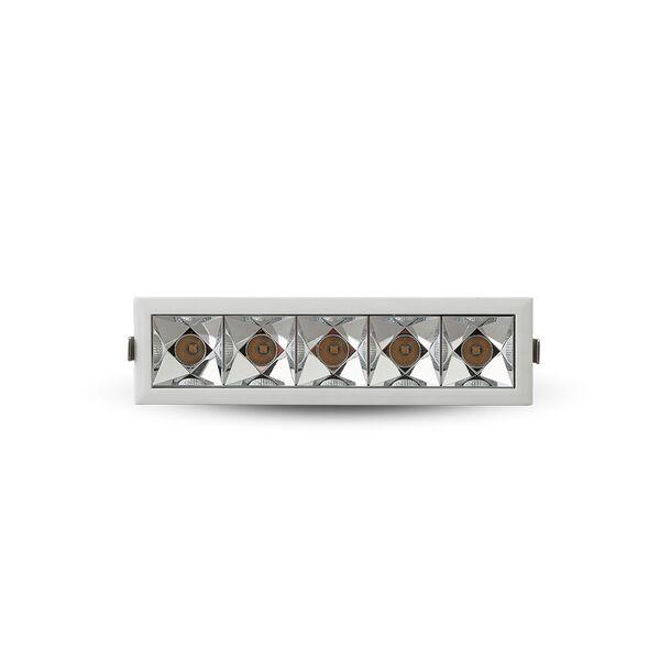Rubik White Five-Light LED Recessed Downlight, image 3