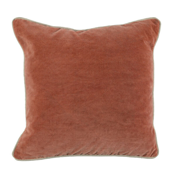 Colby 18-Inch Terra Cotta Throw Pillow, image 1