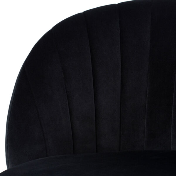 Sebastian Matte Black and Gold Occasional Chair, image 4
