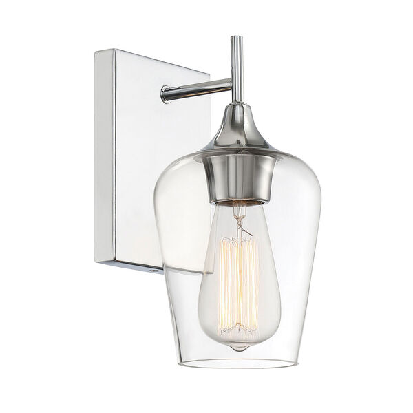 Selby Polished Chrome One-Light Wall Sconce, image 3