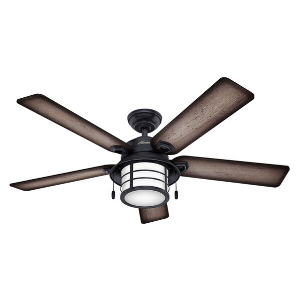 Key Biscayne Weathered Zinc 54-Inch Two-Light Fluorescent Adjustable Ceiling Fan, image 1