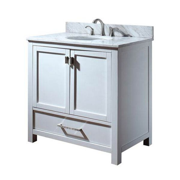 Modero 36-Inch Vanity Only in White Finish, image 2