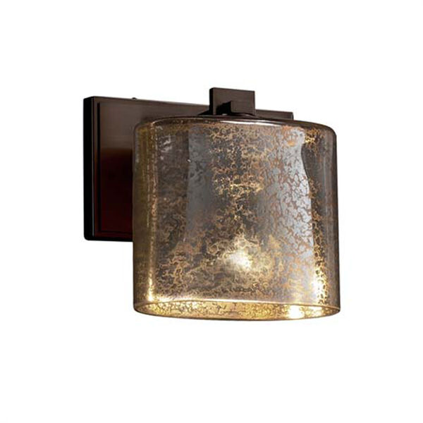 Fusion - Era Matte Black One-Light Wall Sconce with Oval Weave Shade, image 1