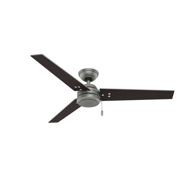 Cassius Matte Silver 52-Inch Outdoor Ceiling Fan, image 3