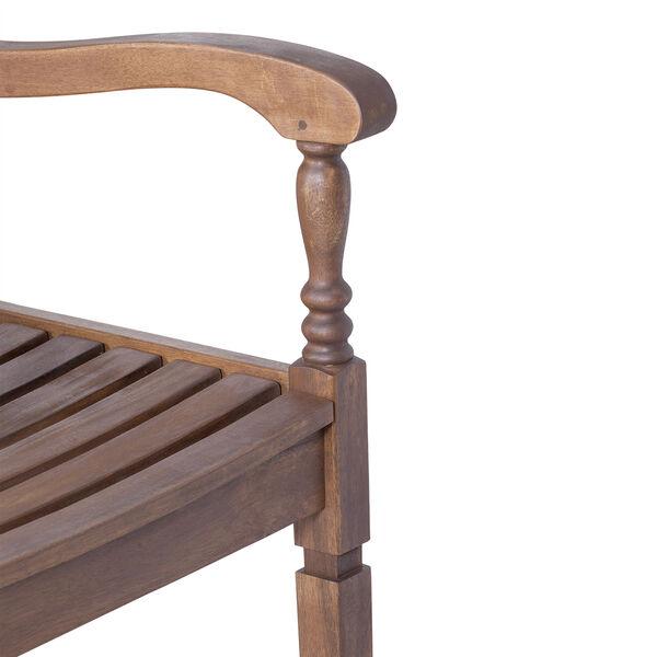 Solid Acacia Wood Rocking Patio Chair, Dark Brown, image 5