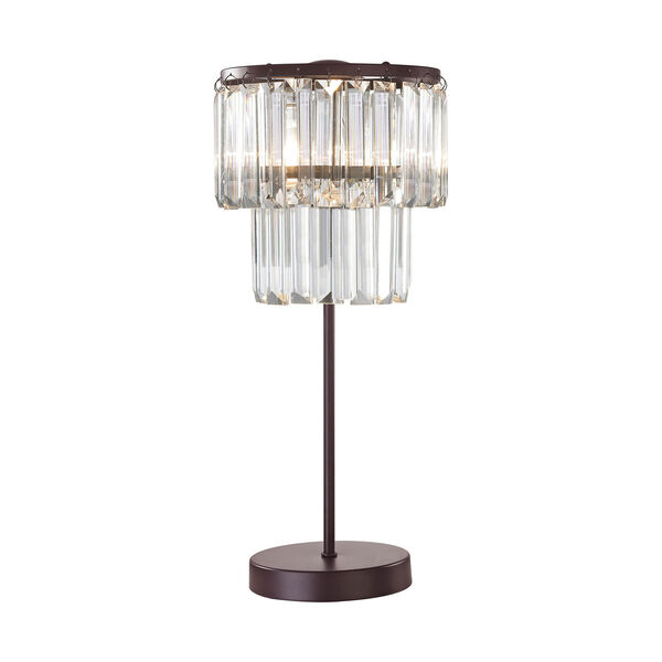 Antoinette Bronze and Clear One-Light Table Lamp, image 1