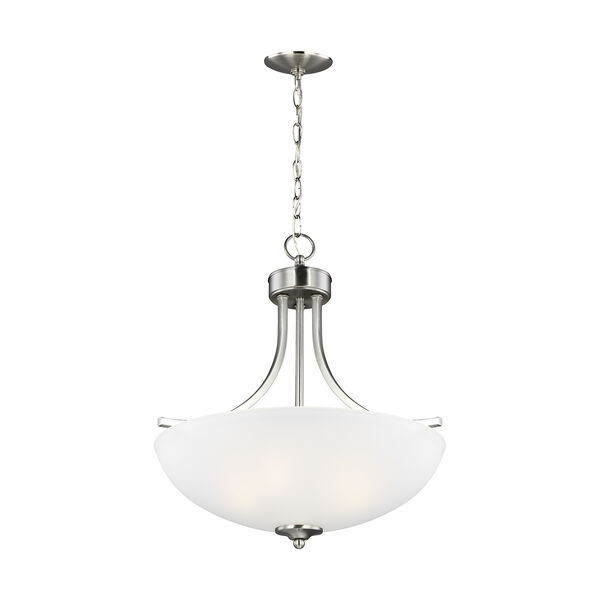 Geary Brushed Nickel 19-Inch Three-Light Pendant, image 1