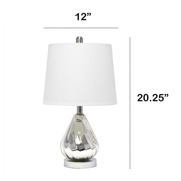 Cerise Chrome White One-Light Table Lamp, image 3