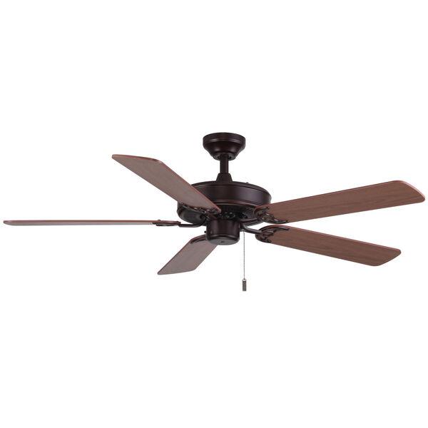 Dalton Oil Rubbed Bronze 52-Inch Two-Light Ceiling Fan, image 1