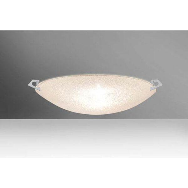 Sonya 17 Satin Nickel Two-Light LED Flush Mount with Glitter Glass, image 1