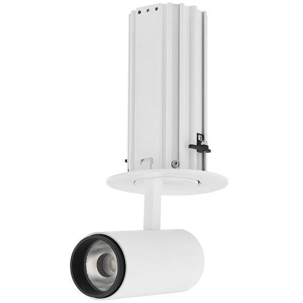 Telescopica White Six-Inch Adjustable LED Recessed Spotlight, image 2