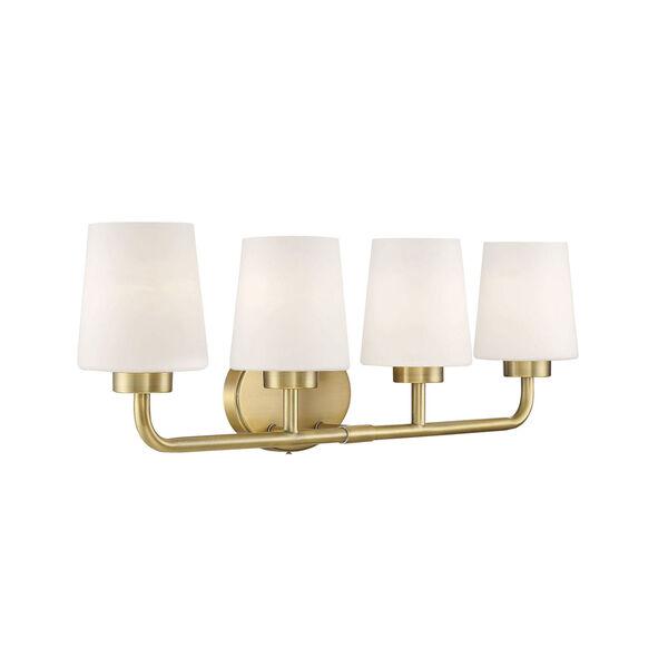 Capra Warm Brass Four-Light Bath Vanity, image 4