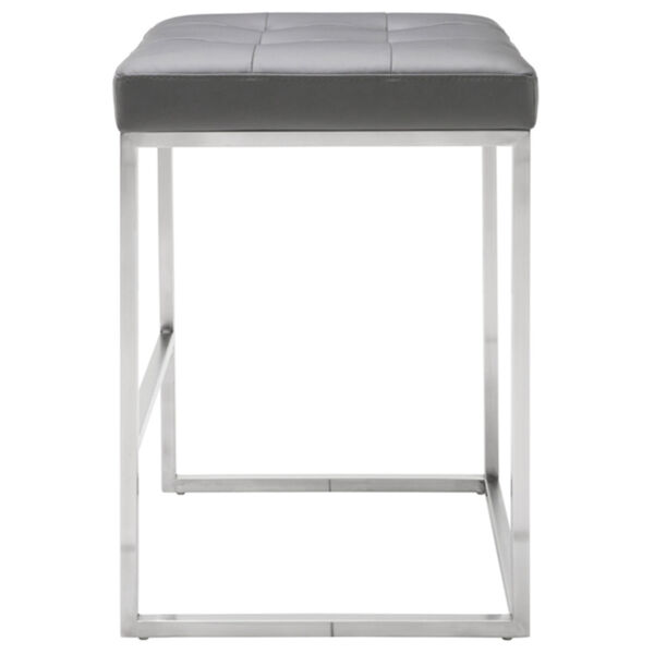 Chi Matte Gray and Silver Counter Stool, image 3