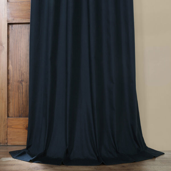 Polo Navy 50 x 84-Inch Solid Cotton Blackout  Curtain, image 10