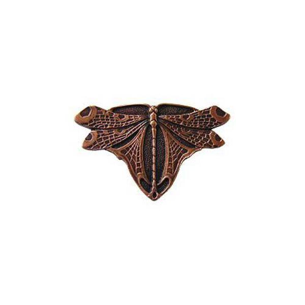 Antique Copper Dragonfly Knob , image 1