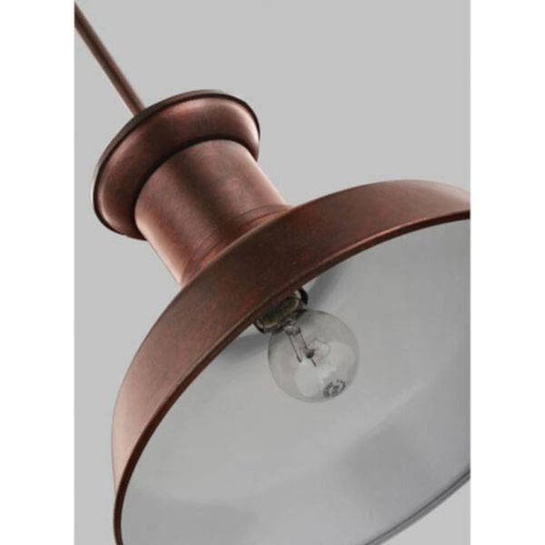 Lex Weathered Copper One-Light Outdoor Pendant, image 2