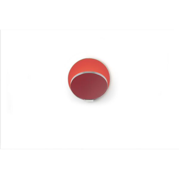 Gravy Chrome Matte Red LED Hardwire Wall Sconce, image 2