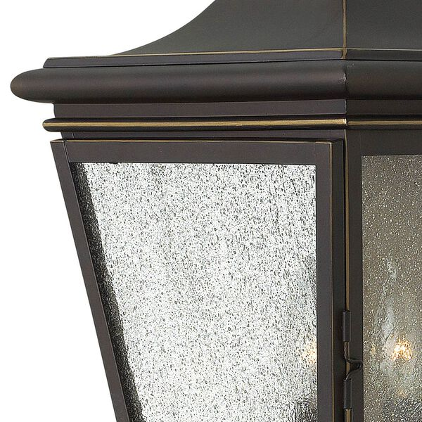 Lincoln Oil Rubbed Bronze 19-Inch Three-Light Outdoor Wall Sconce, image 3