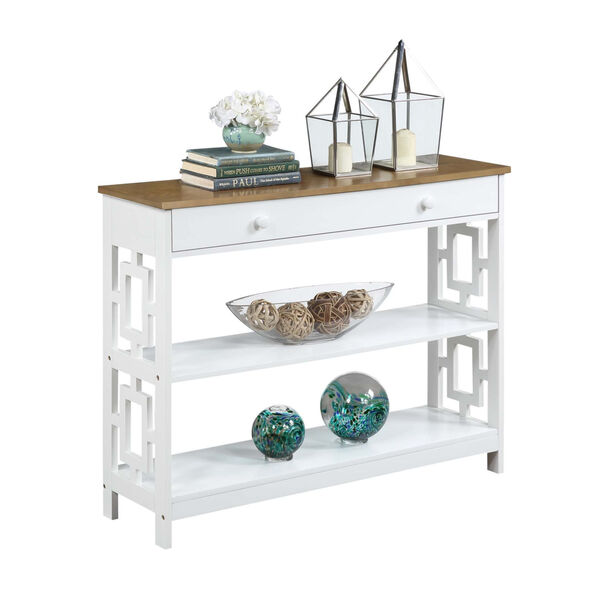 Town Square Driftwood White Accent Console Table, image 2