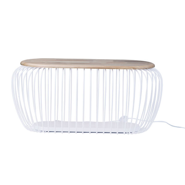 Cage White and Navaho White One-Light LED Cage Floor Lamp, image 1