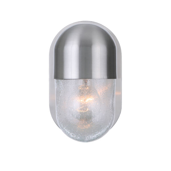 Pill Brushed Polished Nickel One-Light Wall Sconce, image 2