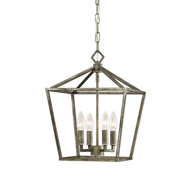 Kenwood Antique Silver Four-Light Lantern Pendant, image 1