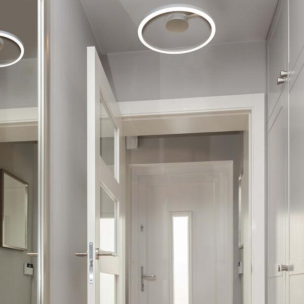 Zuben Silver LED Semi Flush Mount, image 2